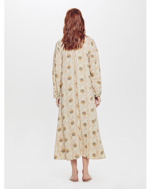 bb5726610fd ... Natalie Martin - Natural Fiore Maxi Rayon Dress Vintage Flowers Sand -  Lyst ...