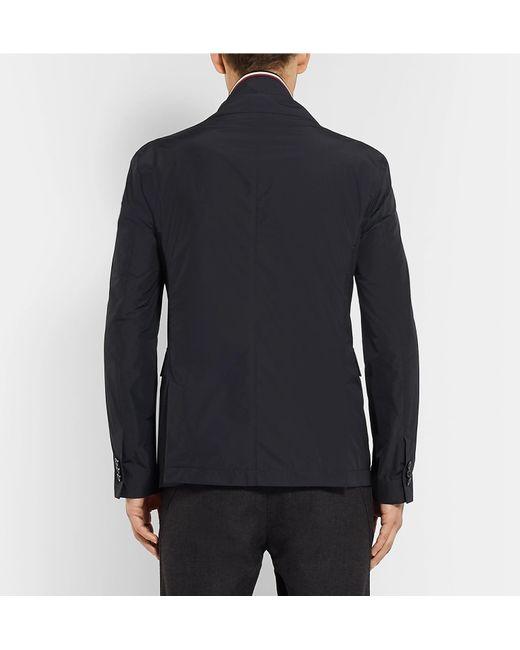 81741ea29d20b6 ... Moncler - Midnight-blue Mayenne Slim-fit Layered Shell Blazer for Men -  Lyst ...