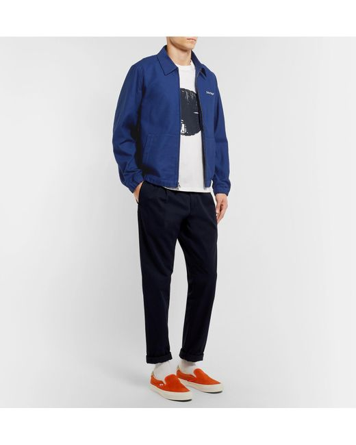 Lyst Twill Blue Jacket Nyc Men Bomber For Saturdays Harrison Cotton WqURzf