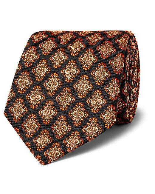 Kingsman Black + Turnbull & Asser Rocketman 8cm Silk-jacquard Tie for men