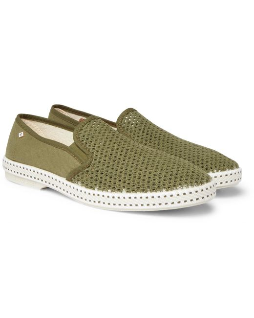 Rivieras - Green Canvas And Cotton-mesh Espadrilles for Men - Lyst