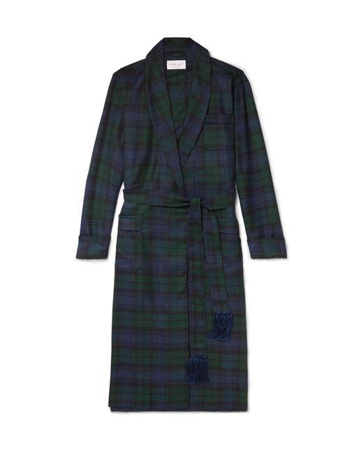 Derek Rose | Blue Black Watch Checked Wool-twill Robe for Men | Lyst