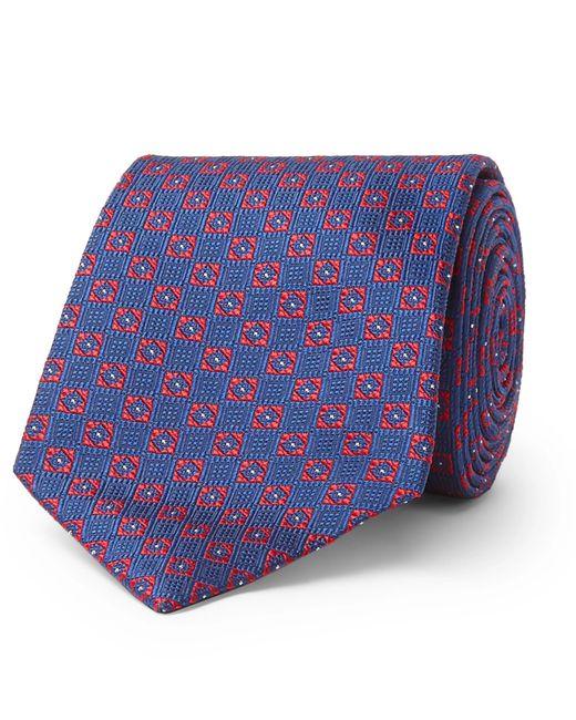 Turnbull & Asser - Blue 8cm Silk-jacquard Tie for Men - Lyst