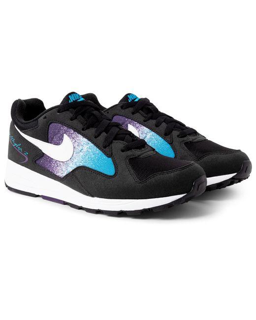 Nike - Black Air Skylon Ii Felt And Mesh Sneakers for Men - Lyst