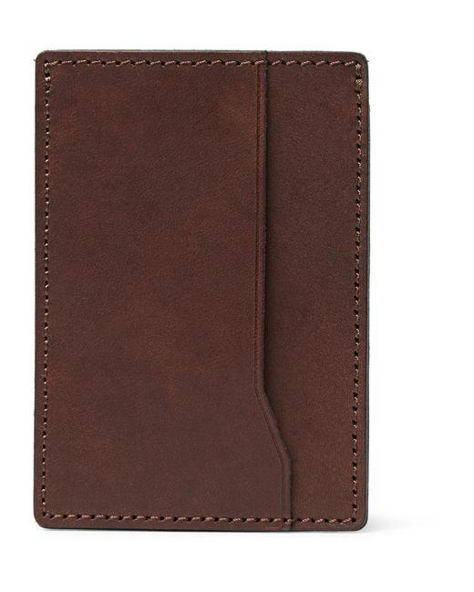 J.Crew - Brown Leather Cardholder for Men - Lyst