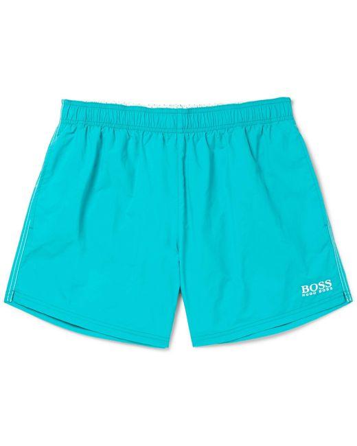 BOSS - Blue Short-length Embroidered Shell Swim Shorts for Men - Lyst