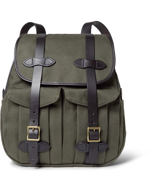 Filson   Green Leather-trimmed Twill Backpack for Men   Lyst