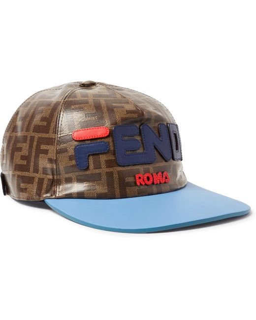 760fb2e08ba Fendi Hat Men in Brown for Men - Save 33% - Lyst