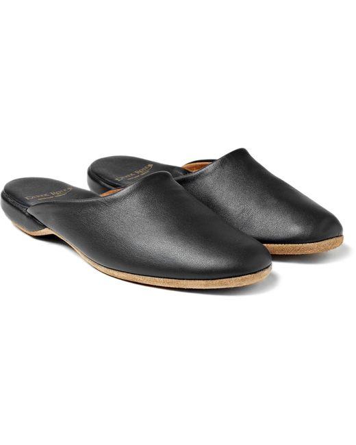 Derek Rose | Blue Morgan Leather Slippers for Men | Lyst