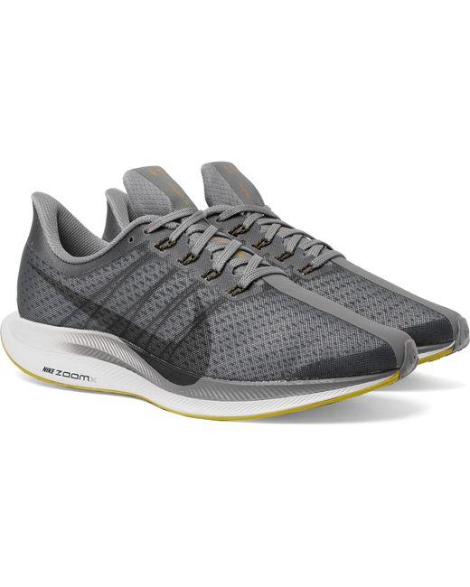 27ce835afa00 ... Nike - Gray Nike Air Zoom Pegasus 35 Turbo Mesh Sneakers for Men - Lyst  ...