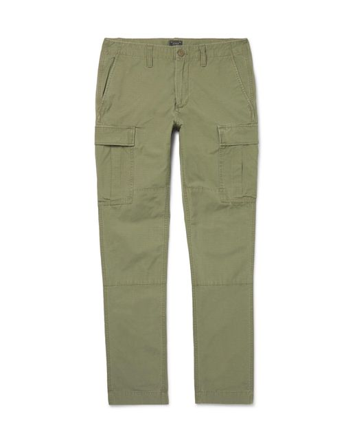 J.Crew - Green Cotton-ripstop Cargo Trousers for Men - Lyst