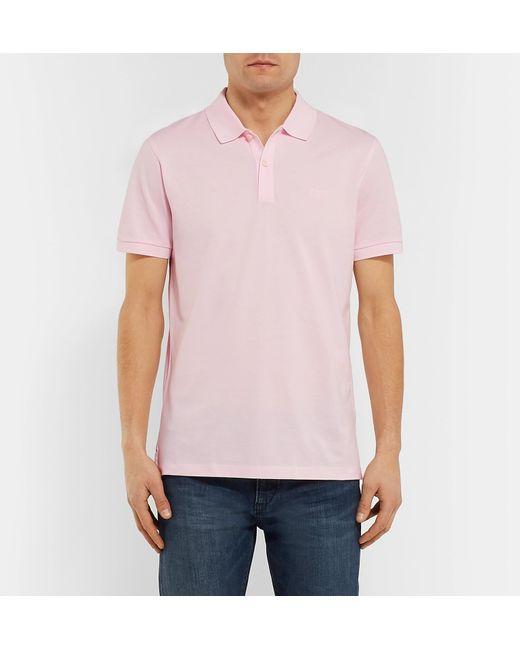 ad188edb ... BOSS - Pink Pallas Cotton-piqué Polo Shirt for Men - Lyst ...
