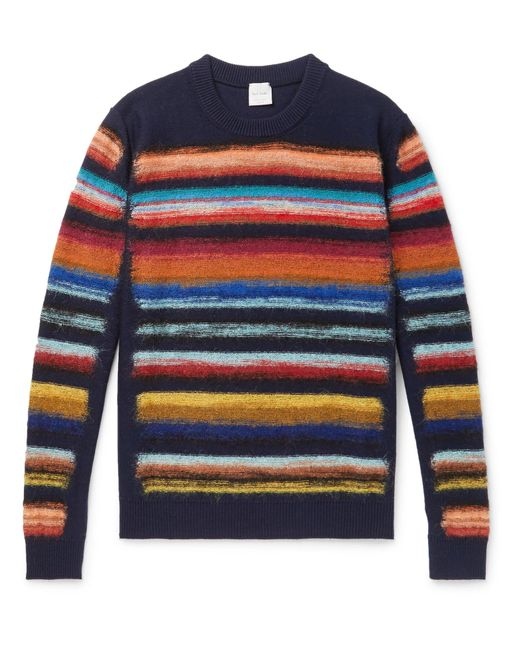 Paul Smith - Blue Striped Wool-blend Sweater for Men - Lyst