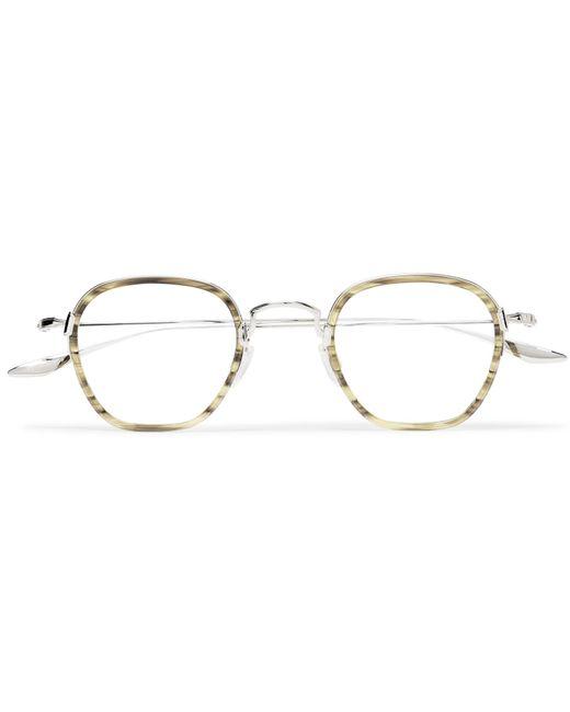 Barton Perreira - Metallic Alva Round-frame Acetate And Silver-tone Optical Glasses for Men - Lyst