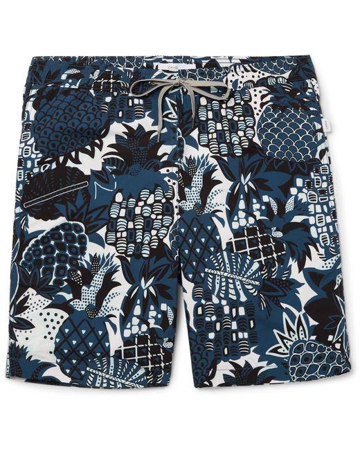 Onia | Blue Charles Mid-length Printed Swim Shorts for Men | Lyst