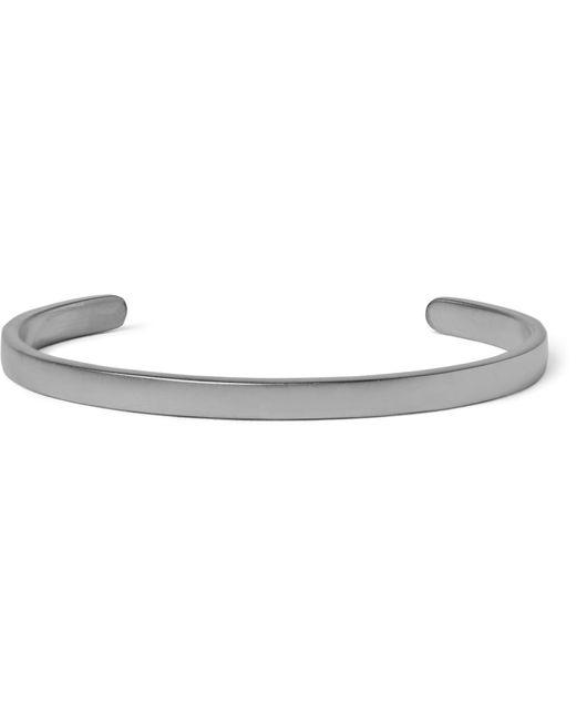 Miansai   Metallic Singular Rhodium-plated Sterling Silver Cuff for Men   Lyst