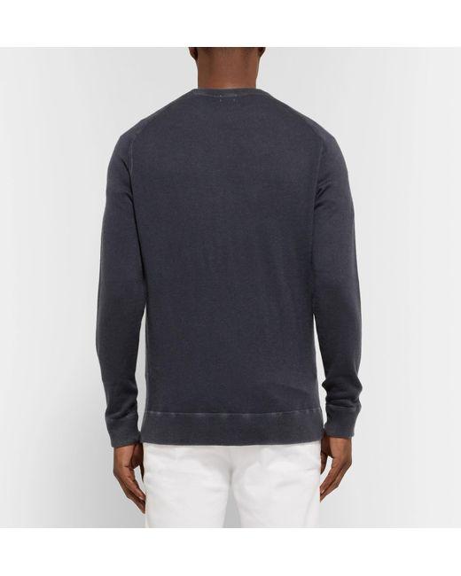 Sweater For Massimo Men Dyed Cashmere Blue Garment Alba Lyst x1wwHFAq7W