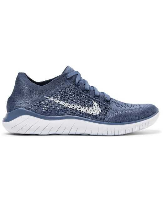 ba6cc45e239c4 Lyst - Nike Free Rn 2018 Flyknit Sneakers in Blue for Men