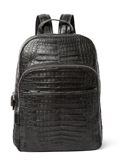 Santiago Gonzalez | Black Caiman Crocodile Backpack for Men | Lyst