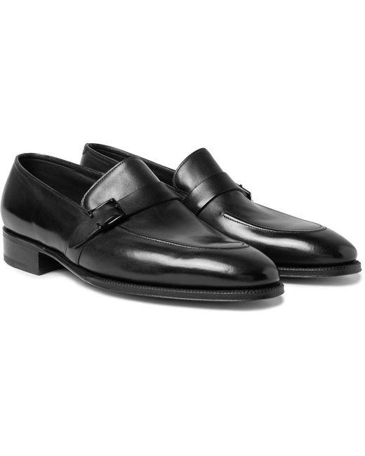 John Lobb - Black Alwyn Polished-leather Loafers for Men - Lyst