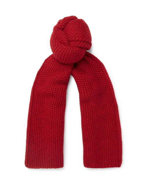 The Workers Club - Red Merino Wool Scarf for Men - Lyst