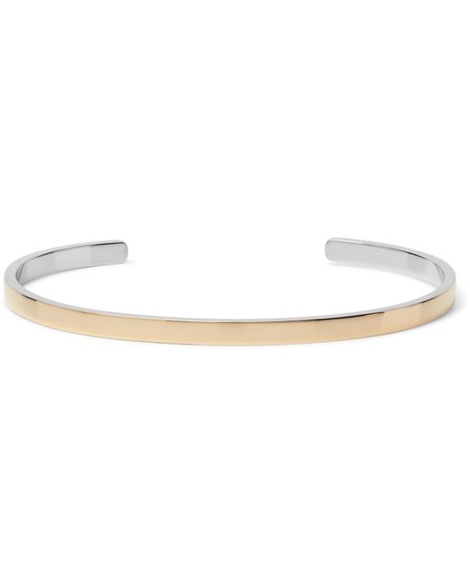 Miansai - Metallic Fusion 14-karat Gold And Sterling Silver Cuff for Men - Lyst