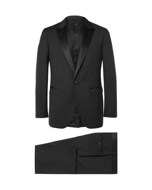 Lanvin - Black Slim-fit Satin-trimmed Wool And Mohair-blend Tuxedo for