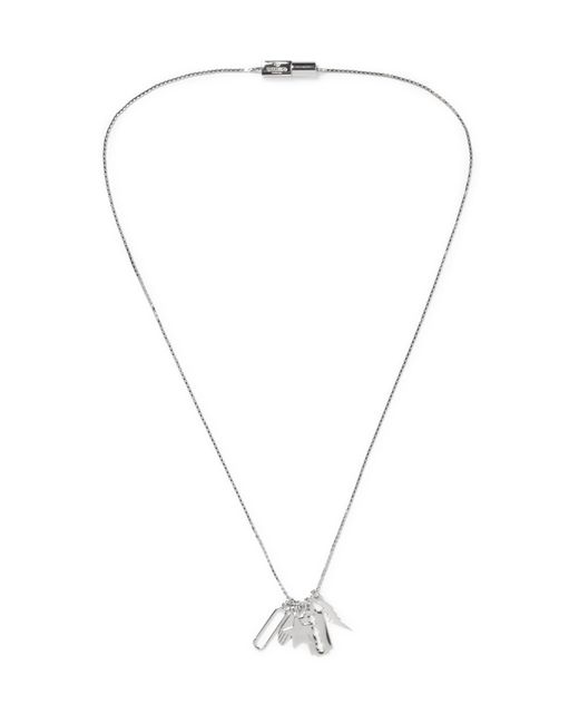 Valentino | Metallic Silver-tone Charm Necklace for Men | Lyst