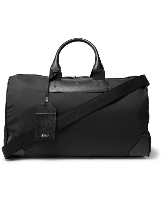 Montblanc - Black Sartorial Jet Cross-grain Leather-trimmed Shell Duffle Bag for Men - Lyst