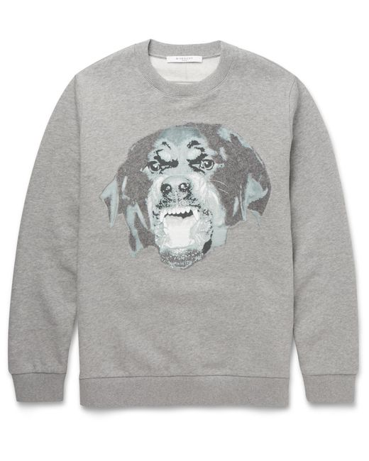 Givenchy | Gray Cuban Rottweiler Needle Punch Sweatshirt for Men | Lyst