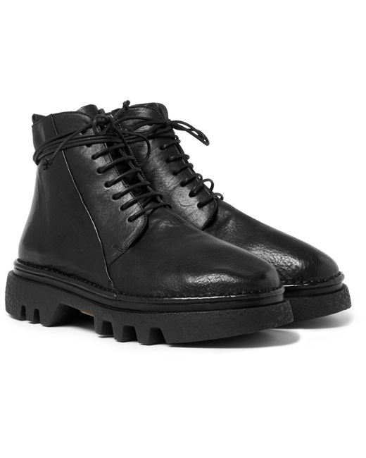 Marsèll | Black Full-grain Leather Boots for Men | Lyst