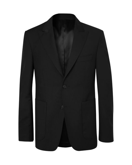SALLE PRIVÉE Black Lloyd Wool And Mohair-blend Suit Jacket for men