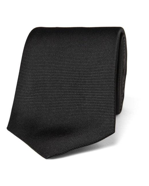 Turnbull & Asser - Black 8cm Ribbed Silk Tie for Men - Lyst