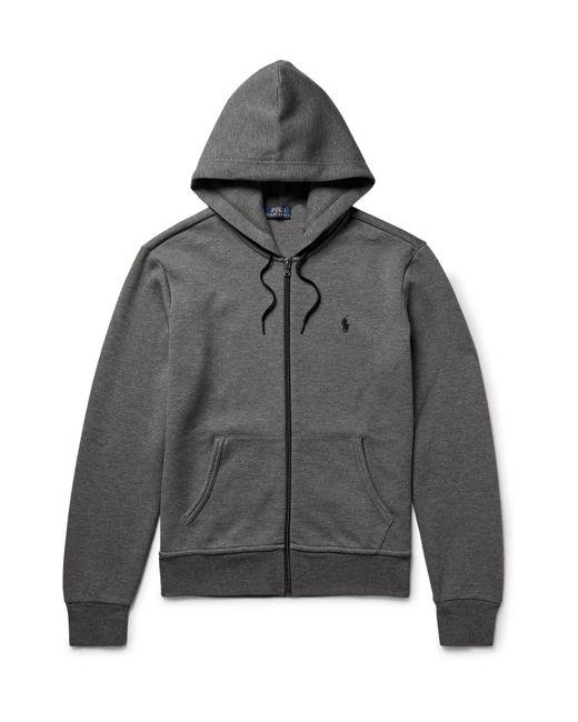 Polo Ralph Lauren | Gray Mélange Jersey Hoodie for Men | Lyst