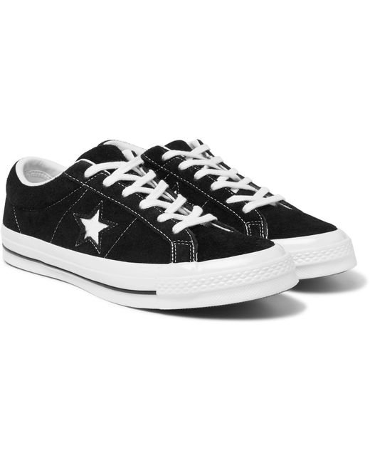 2bbeb605ee08 Converse - Black One Star Ox Suede Sneakers for Men - Lyst ...