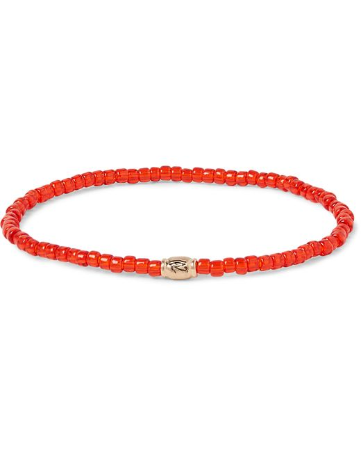 Luis Morais | Red Glass Bead And Gold Bracelet | Lyst