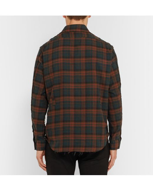 Blackmeans slim fit checked cotton flannel shirt in red for Places to buy flannel shirts