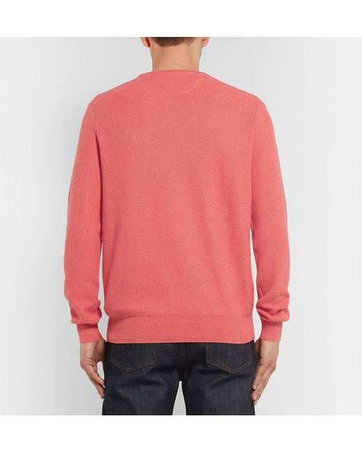 Ralph Polo Knit Pima Men Cotton Lyst For Sweater Lauren Honeycomb Pink UpdBwp