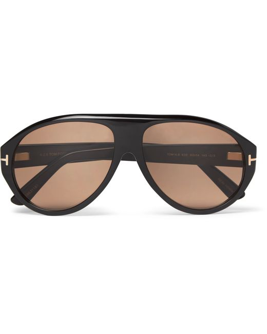 Tom Ford | Black Private Collection Aviator-style Horn Sunglasses for Men | Lyst