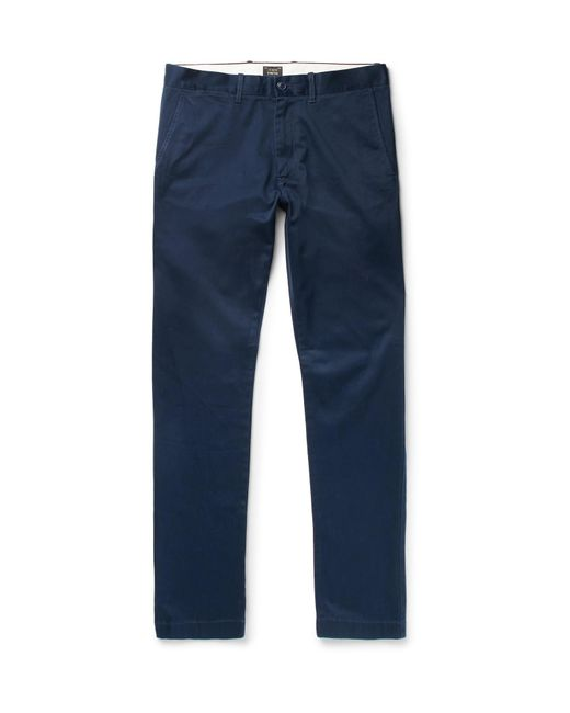 J.Crew - Blue 484 Slim-fit Stretch-cotton Twill Chinos for Men - Lyst