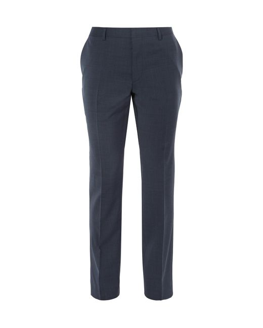BOSS - Blue Genesis Slim-fit Virgin Wool And Cashmere-blend Trousers for Men - Lyst