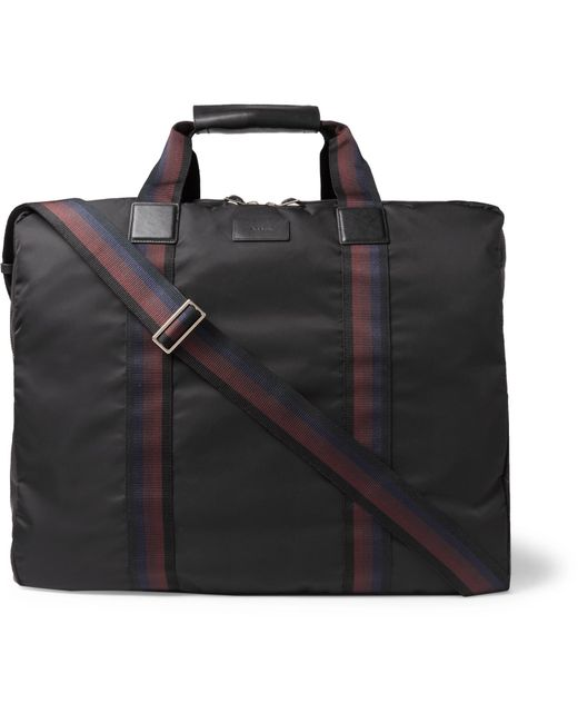 Paul Smith | Black Leather-trimmed Shell Suit Carrier for Men | Lyst