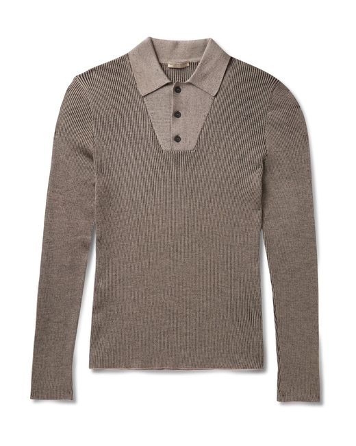 Bottega Veneta   Gray Ribbed Wool Sweater for Men   Lyst