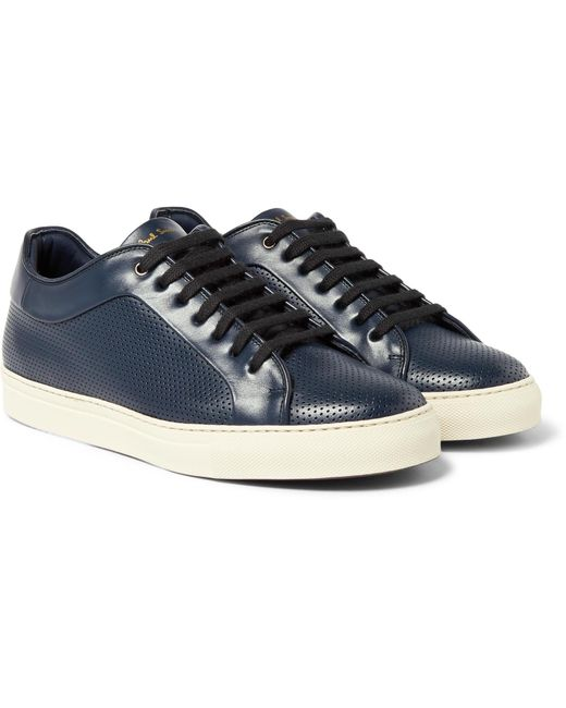 Paul Smith | Blue Basso Perforated Leather Sneakers for Men | Lyst
