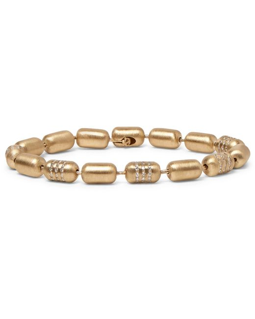 Luis Morais - Metallic Gold Diamond Bracelet for Men - Lyst