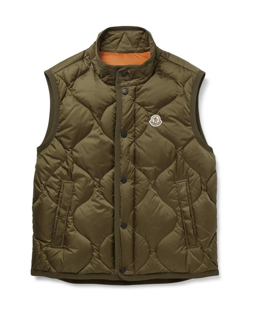 Moncler   Green Canut Quilted Shell Down Gilet for Men   Lyst