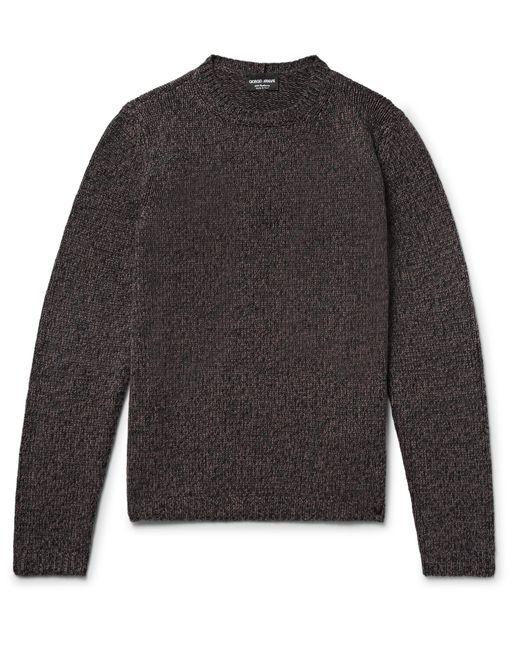 Giorgio Armani | Brown Mélange Cashmere Sweater for Men | Lyst