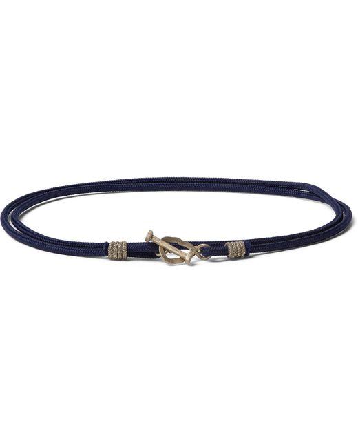 Luis Morais   Blue Cord Gold Wrap Bracelet for Men   Lyst
