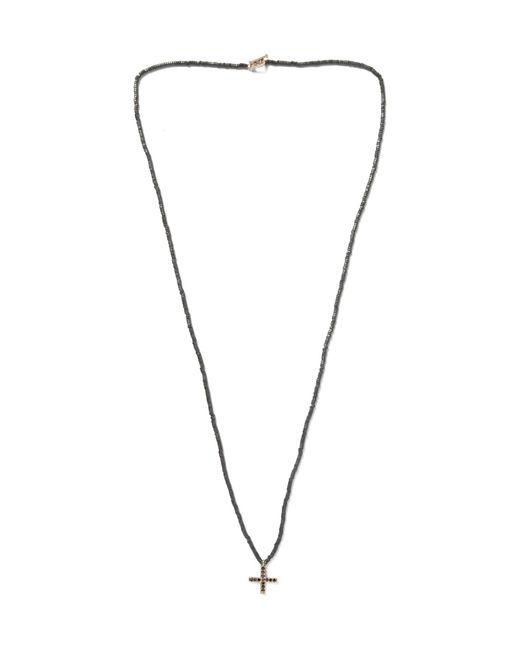 Luis Morais   Black Gold, Hematite And Diamond Necklace for Men   Lyst