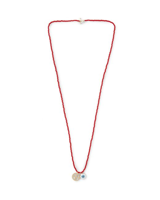 Luis Morais | Red Glass Bead Enamelled Gold Necklace for Men | Lyst